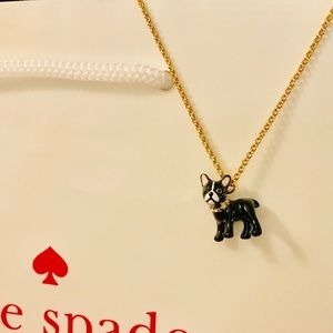 Kate Spade French bulldog Necklace